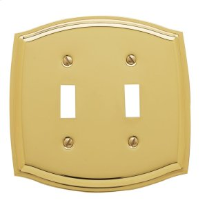 Polished Brass Colonial Double Toggle Product Image