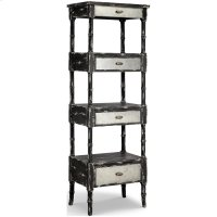Zornes Cabinet In Distressed Black Product Image