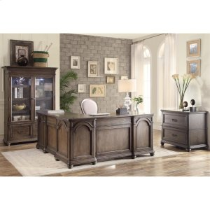 RiversideBelmeade - L Desk & Return - Old World Oak Finish