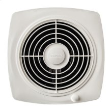 "8"" 180 CFM Through Wall Fan, White Plastic Grille"