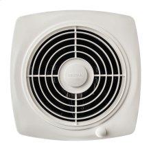 "8"" 180 CFM Through Wall Fan, White Plastic Grille"