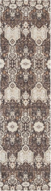 SILVER SCREEN KI341 MOCHA/SLATE RUNNER 2'2'' x 7'6''