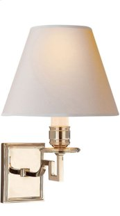 Visual Comfort AH2000PN-NP Alexa Hampton Dean 1 Light 8 inch Polished Nickel Decorative Wall Light
