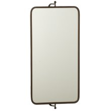 Rectangle Wall Mirror on Swivel Bracket.