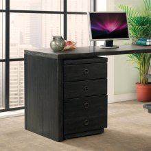 Perspectives - Mobile File Cabinet - Ebonized Acacia Finish