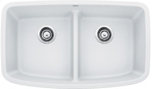 Blanco Valea® Equal Double Bowl With Low-divide - White