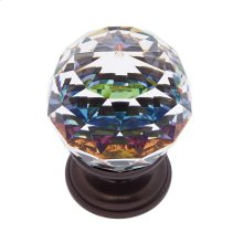 Old World Bronze 30 mm Round Prism Knob
