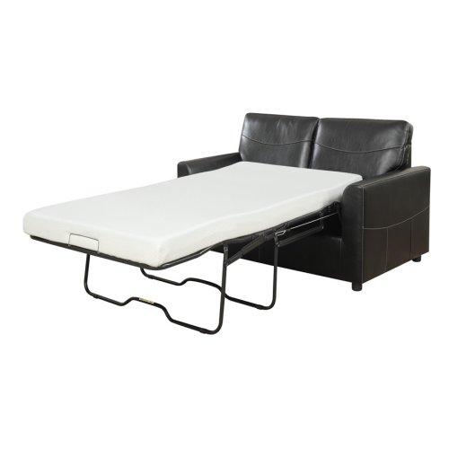 Emerald Home Slumber Twin Sleeper W/gel Foam Mattress Black U3215-33-26