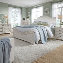 Queen Panel Bed, Dresser & Mirror, NS