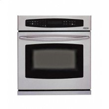 "Brushed Stainless Steel 30"" Single Wall Oven"