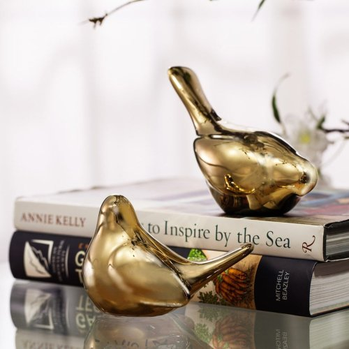 S/2 Chirp Bird Accents, Gold