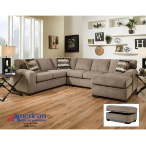 American Furniture Manufacturing5250 - Perth Pewter Sectional