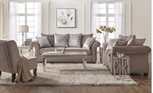 7500 Cosmo Putty Sofa and Loveseat