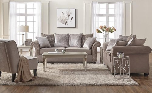 7500 Cosmo Putty Loveseat Only