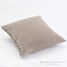 Horn Button Pillow-Bark