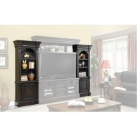 Fairbanks Left and Right Pier Cabinet Pair with Bridge Back panel and back panel wings Product Image