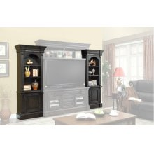 Fairbanks Left and Right Pier Cabinet Pair with Bridge Back panel and back panel wings