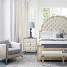 King-Sized Santa Barbara Upholstered Tufted Panel Bed in Sandstone (385)