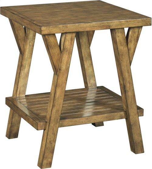 New Vintage Splay Leg Table, Vintage Brown
