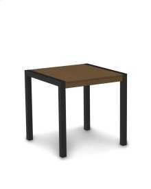 "Textured Black & Teak MOD 30"" Dining Table"