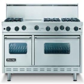 "Plum 48"" Sealed Burner Range - VGIC (48"" wide range with six burners, 12"" wide char-grill, double ovens)"