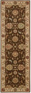 LIVING TREASURES LI04 BRN RUNNER 2'6'' x 8'