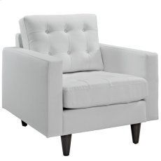 Empress Bonded Leather Armchair in White Product Image
