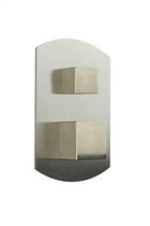Pressure Balance Mixer with 2 Way Diverter SQU + SAFIRE - Brushed Nickel Product Image