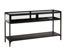 Carbon Metal with Glass Console Table