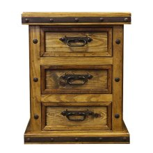 N/S 3 Drawer W/Wood Panels