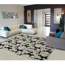 Graphic Illusions Gil03 Blk Rectangle Rug 2'3'' X 3'9''