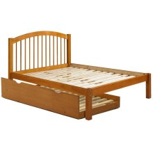 Alaska Mahogany Twin Spindle Bed w/ Trundle