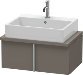 Vero Vanity Unit For Console Compact, Flannel Grey Satin Matt Lacquer