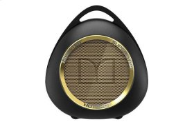 SuperStar HotShot Portable Bluetooth Speaker - Black with Gold