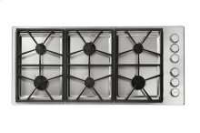 "Heritage 46"" Professional Gas Cooktop, Liquid Propane/High Altitude"