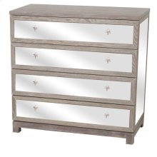 Lafayette 4 Drawer Wood and Mirror Fleur De Lis Chest