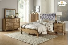 HOMELEGANCE 1828-1-9 Chambord Queen Sleigh Bed, Night Stand, Dresser, Mirror & Chest Group