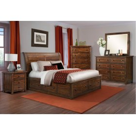 Dawson Creek Sleigh Storage Bedroom