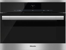 DGC 6705-1 Steam oven with full-fledged oven function and XL cavity - the Miele all-rounder with mains water connection for discerning cooks.