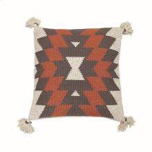 18X18 Hand Woven Wilder Pillow Rust