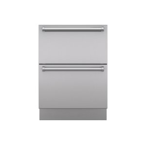 "SubzeroIntegrated Stainless Steel 24"" Drawer Panels with Pro Handles"