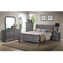 GREY LOUIS PHILIPPE NIGHT STAND