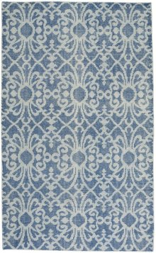 Vintage-Courtyard Blue Hand Knotted Rugs