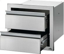 "18"" X 16"" Double Drawer , Stainless Steel"