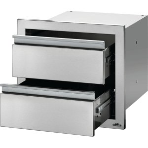 "Napoleon Grills18"" X 16"" Double Drawer , Stainless Steel"