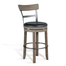 "30""H Swivel Barstool w/ Cushion Seat"