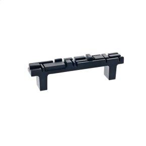 Black Matte Offset Pull 3 3/4 Inch (c-c)