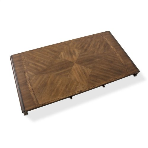 Rectangular Pedestal Dining Table (2 Pc)