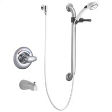 Chrome Monitor ® 13 Series Tub Only Trim with Hand Shower and Grab Bar
