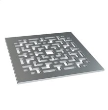 "Designer Shower Drain - 5"" X 5"" Strainer Only"